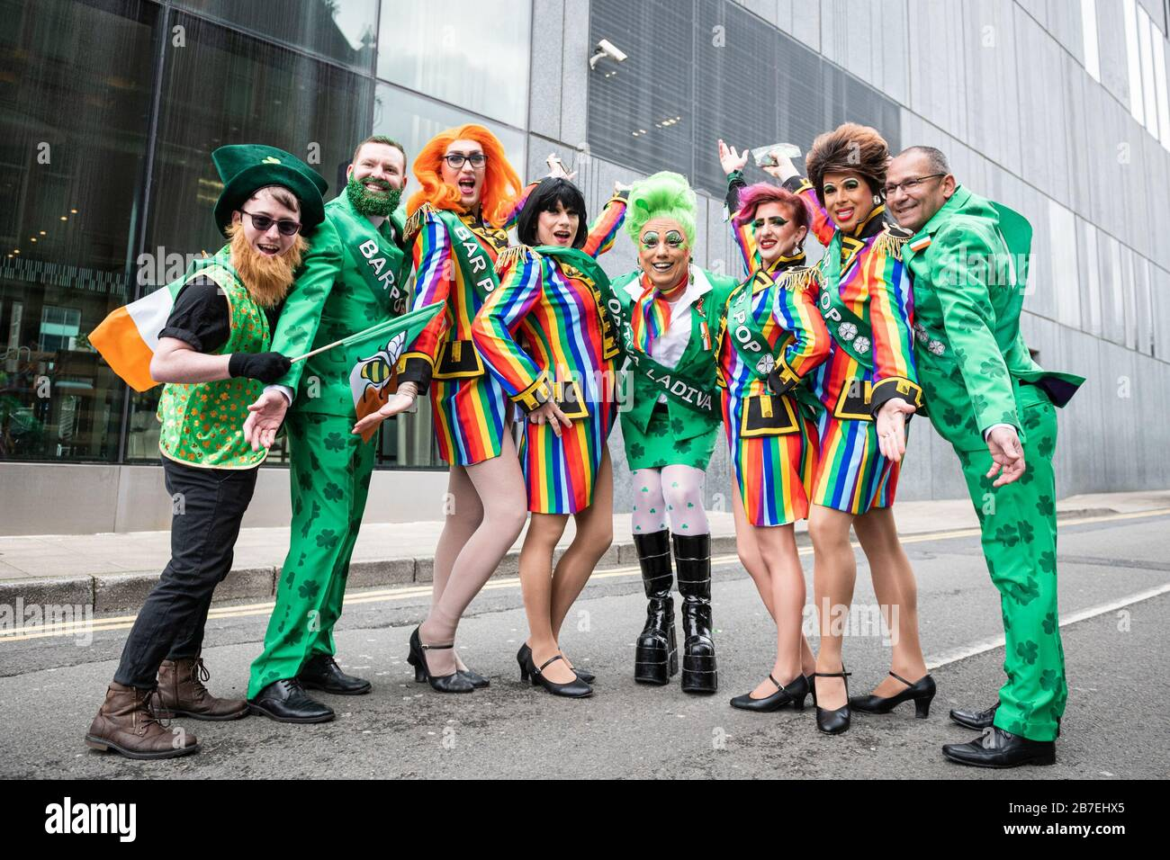 Manchester Halloween Parade 2020 Manchester, UK. 15th Mar, 2020. St. Patricks day parade and its