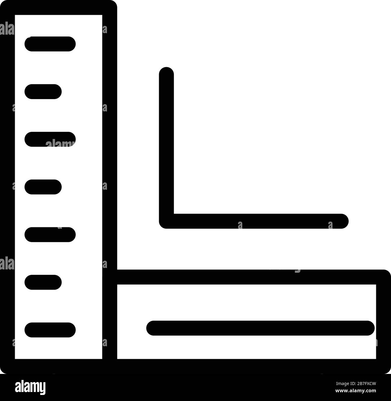 corner ruler icon outline style stock vector image art alamy alamy
