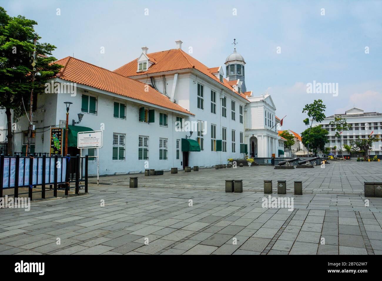 Jakarta Indonesia 16th Mar 2020 Taken Picture At Taman Fatahillah Kota Tua During A Temporary Closure