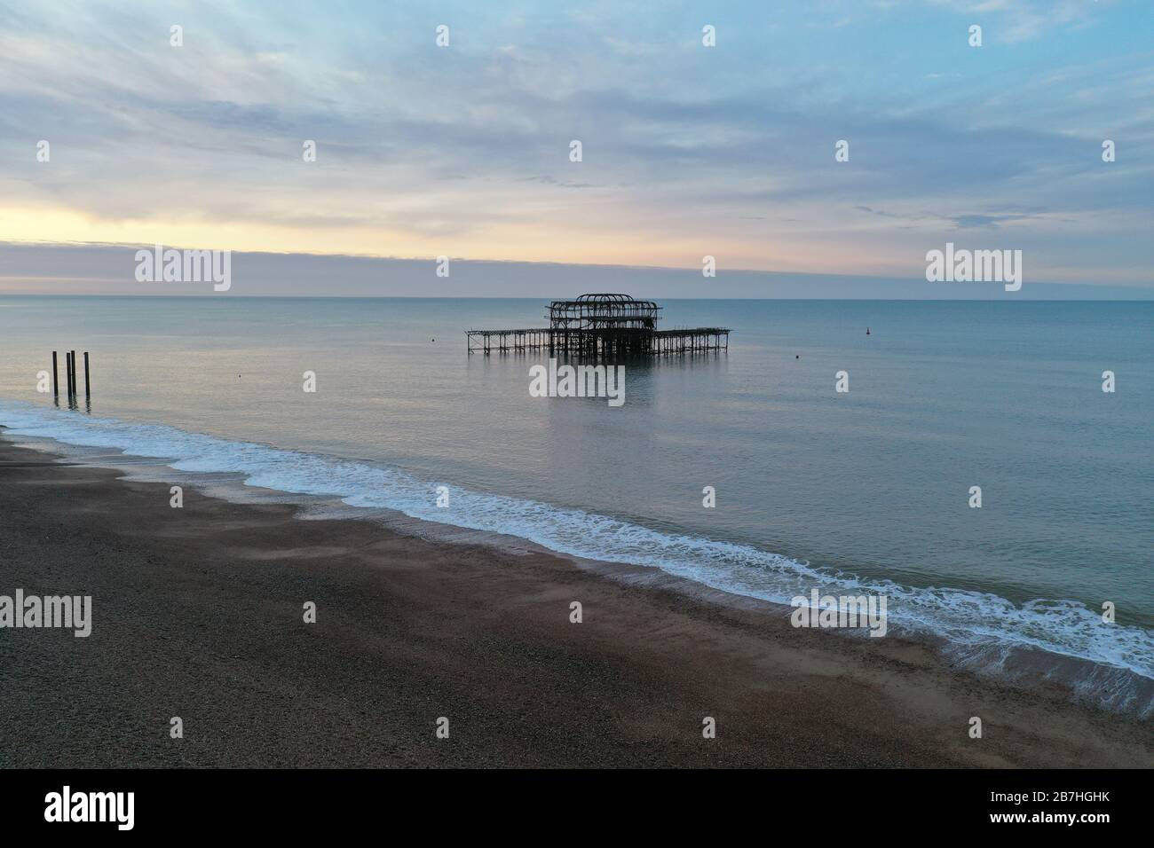 Early morning views of Brighton and hove from above during covid19 outbreak Stock Photo