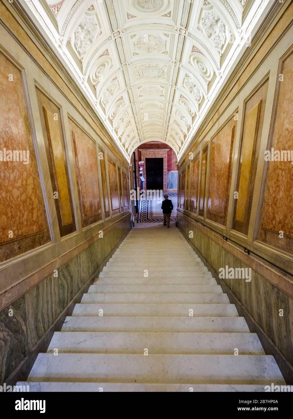 Stairway in villa Farnesina  - Rome, Italy Stock Photo