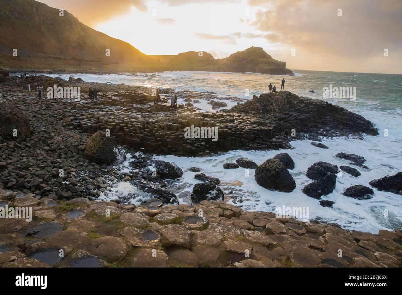 Amazing Giant's Causeway, Co. Antrim, Northern Ireland Stock Photo