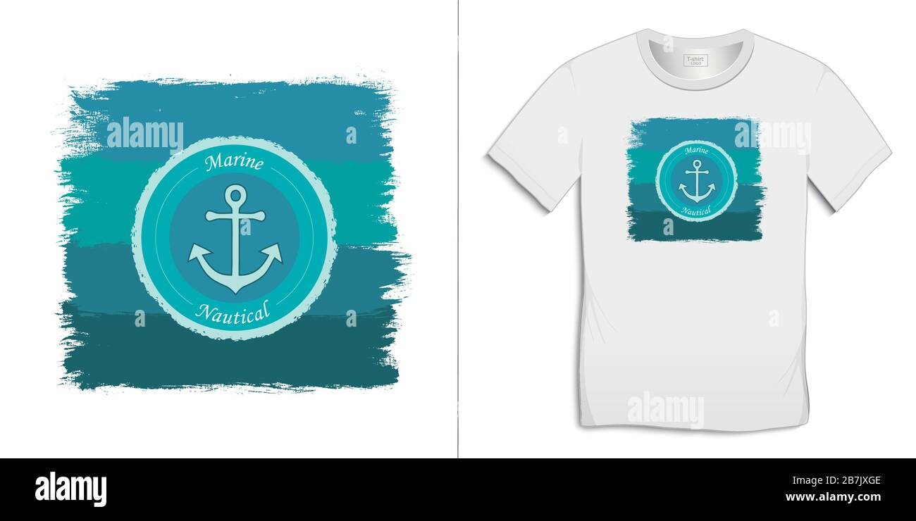 Print On T Shirt Graphics Design Paint And Logo Anchor Isolated On White Background Vector Stock Vector Image Art Alamy