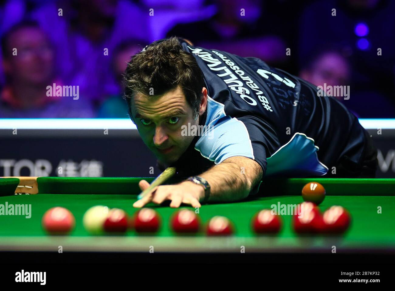 Ronald Antonio O'Sullivan of England plays a shot to Alan McManus ...