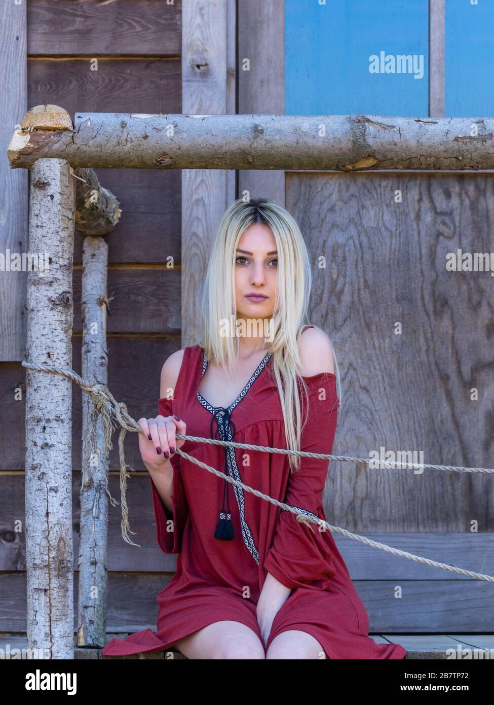 Country-girl countrygirl nostalgia nostalgic feeling Stock Photo