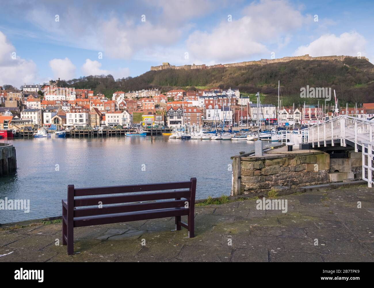 Scarborough harbour, a traditional seaside town on the north Yorkshire coast, England, UK Stock Photo