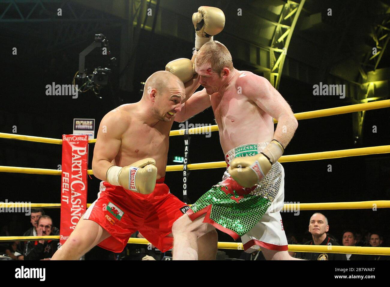 Gavin Rees Red Shorts Defeats Jason Cook In The Semi Final Of Prizefighter The Light Welterweights At Olympia National Hall London Promoted By B Stock Photo Alamy