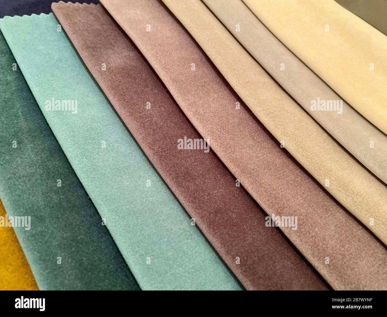 Samples Of Fabric For Decorating The Medel Curtains Dark Shades Of Fabric Background Texture Stock Photo Alamy