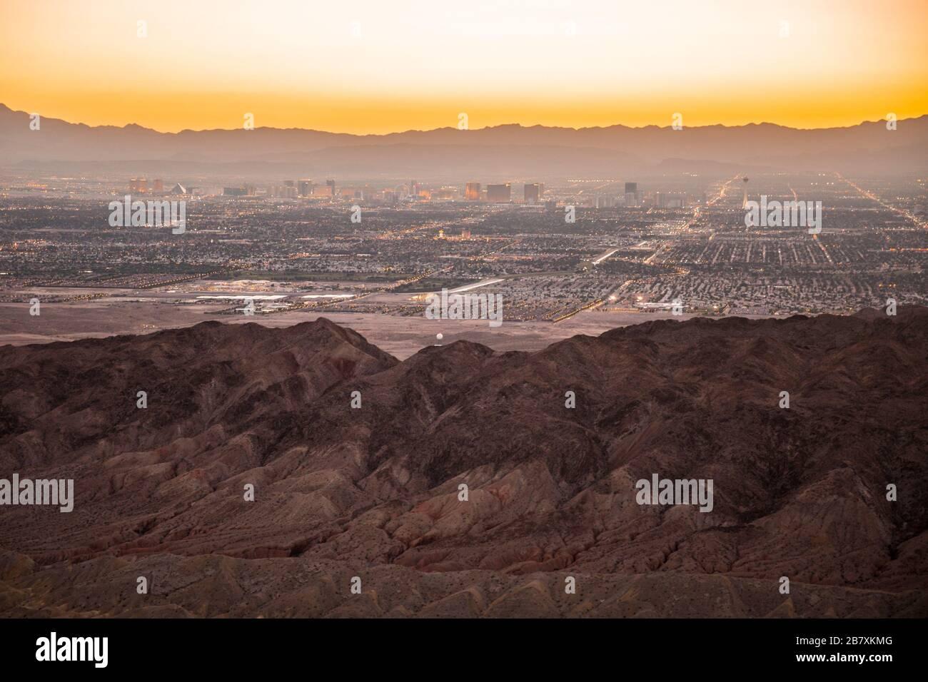Views of Las Vegas, USA and the surrounding area. Credit: Charlie Raven/Alamy Stock Photo