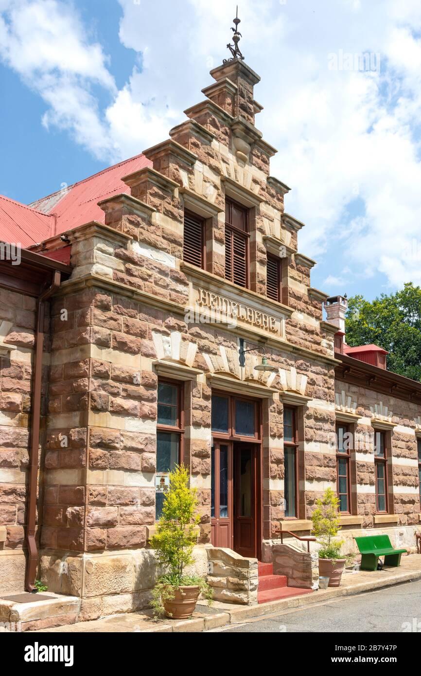 Entrance to Heidelberg Heritage Museum, Voortrekker Street, Heidelberg, Gauteng Province, Republic of South Africa Stock Photo