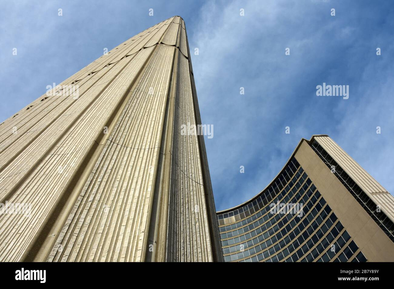 Toronto City Hall is one of Toronto's best known landmarks up close. Canada Stock Photo