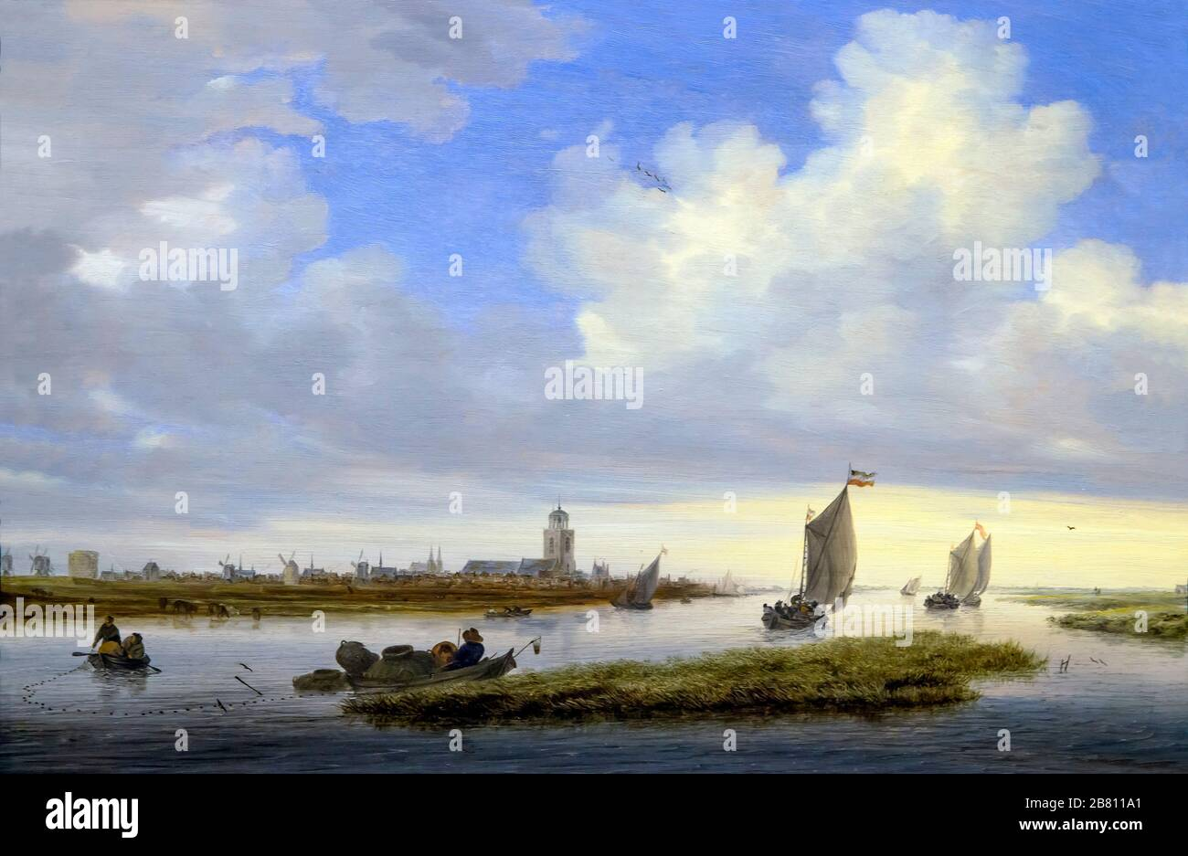 View of Deventer seen from the North-West, Salomon van Ruysdael, 1657, Stock Photo