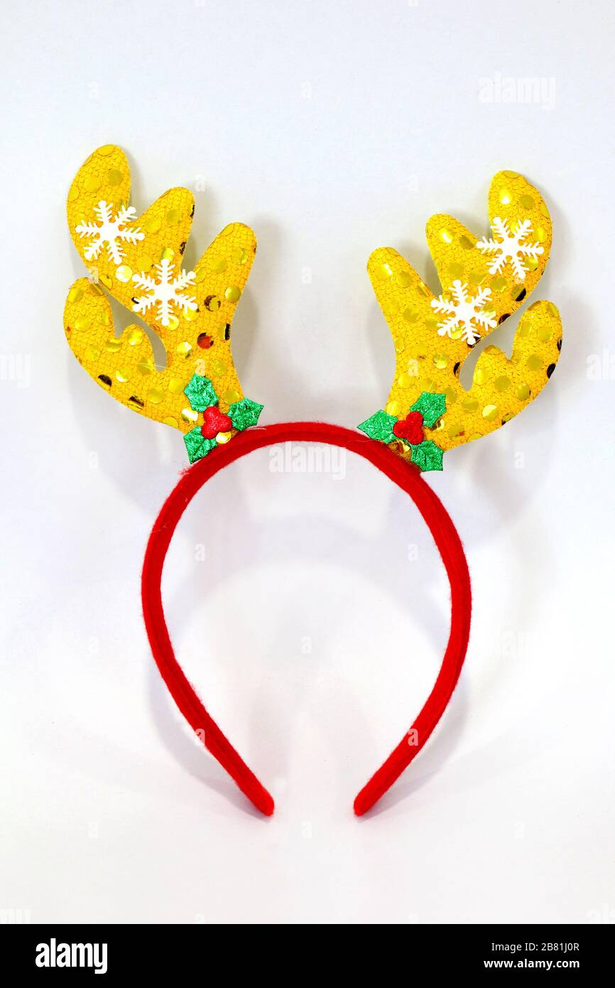 Adult Gold Antler Reindeer Deer Filter Selfie Photo Flower Festival Headband