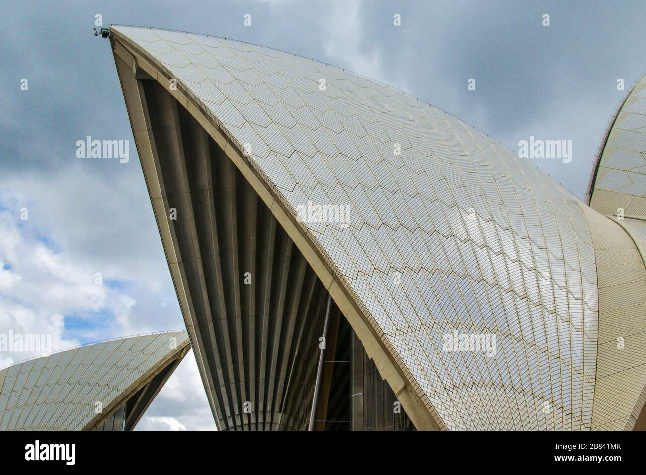 Detail of wing on the Opera House in Sydney Australia Stock Photo