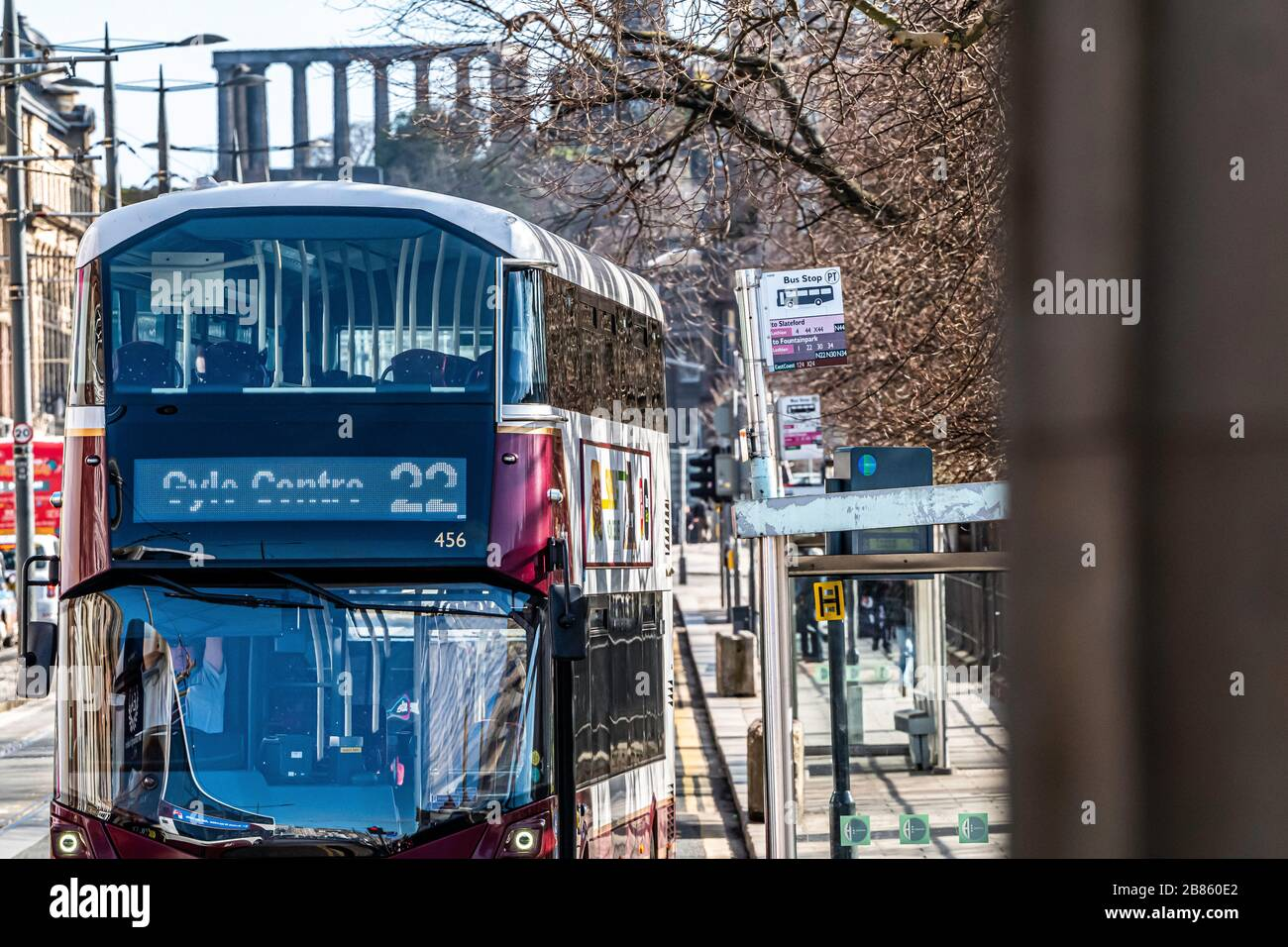 Edinburgh Lothian Scotland Uk 20th March 2020 Edinburgh S Streets Are Eerily Quiet As Buses Move Around With No Passengers On Friday Morning Credit Chris Strickland Alamy Live News Stock Photo Alamy