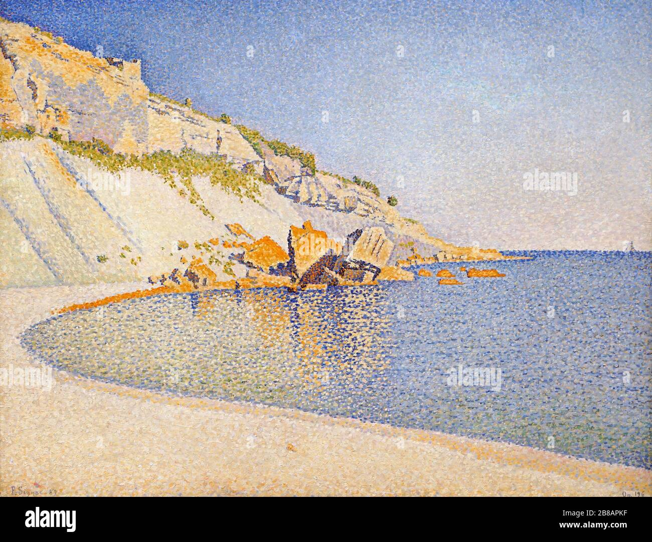 Cassis,Cap Lombard,opus196 (1889) by Paul Signac 1863-1935 French Neo-Impressionist painter Stock Photo