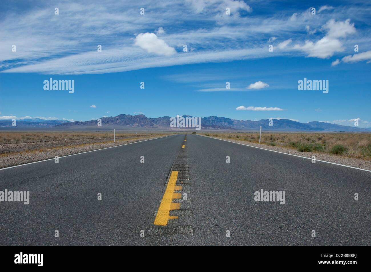 The open road in central California Stock Photo