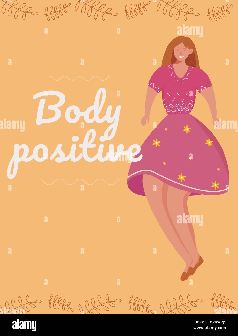 Body Positive Poster Vector Template Stock Vector Image Art Alamy