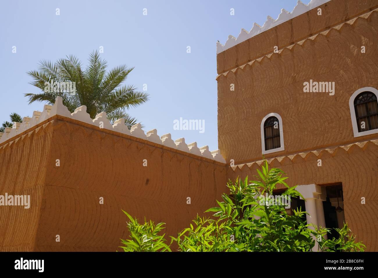 Riyadh - Riyadh / Saudi Arabia - March 07  2020: View of The Murabba Palace Qasr al Murabba is Historic Building Stock Photo