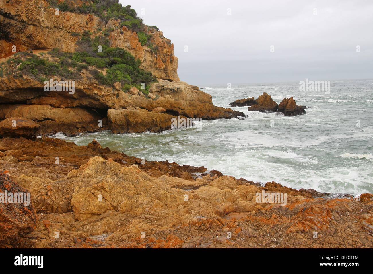 The Knysna Heads, a famous landmark along the renowned Garden Route, South Africa, Africa. Stock Photo