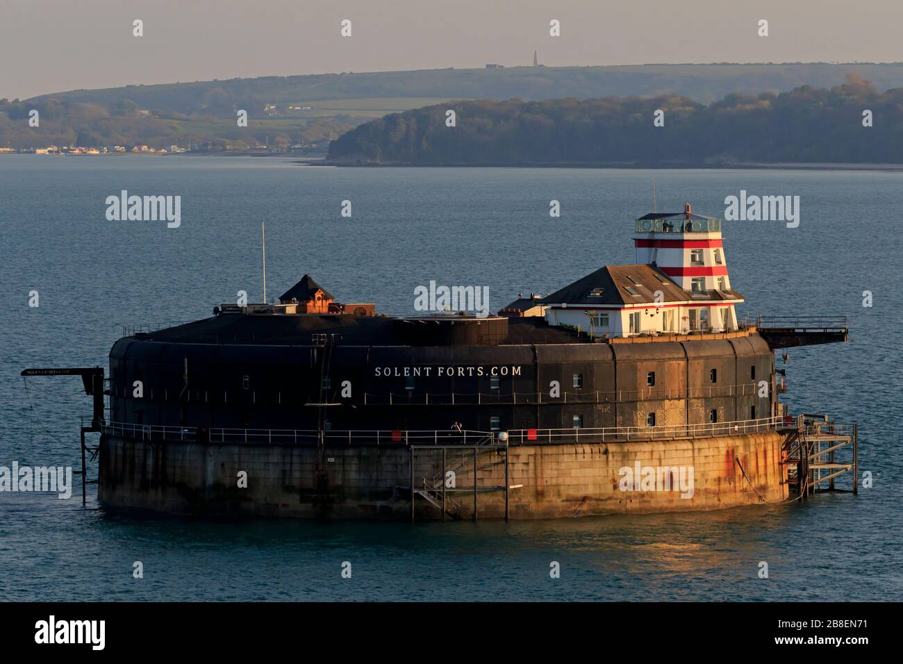 No Man's Fort on the Solent, Portsmouth, Hampshire, England, United Kingdom Stock Photo