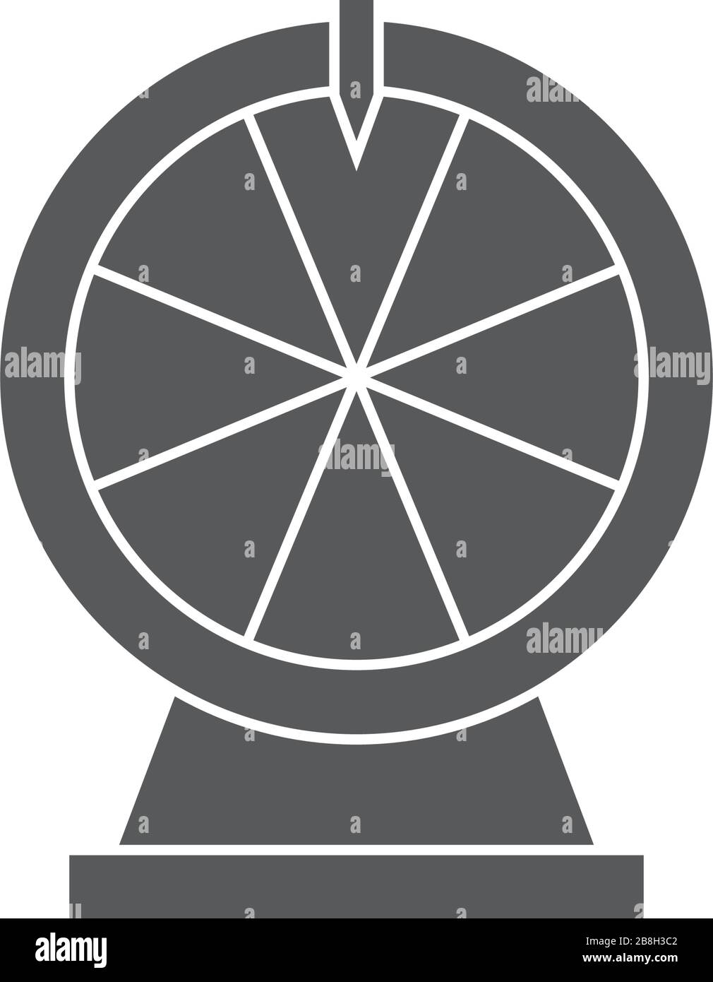 Wheel Of Fortune Vector Icon Isolated On White Background Stock Vector Image Art Alamy