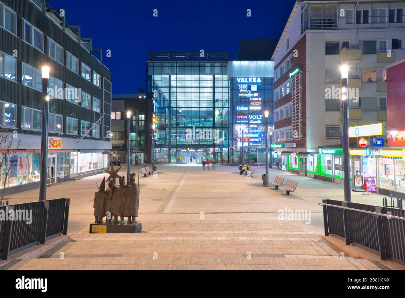 Valkea Shopping Center in Oulu, Finland Stock Photo