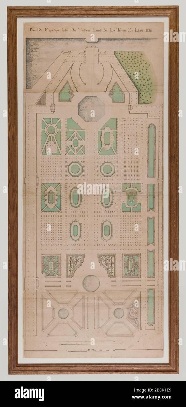 Plan Garden Tiles In 1738 Plan Du Jardin Des Tuileries En 1738
