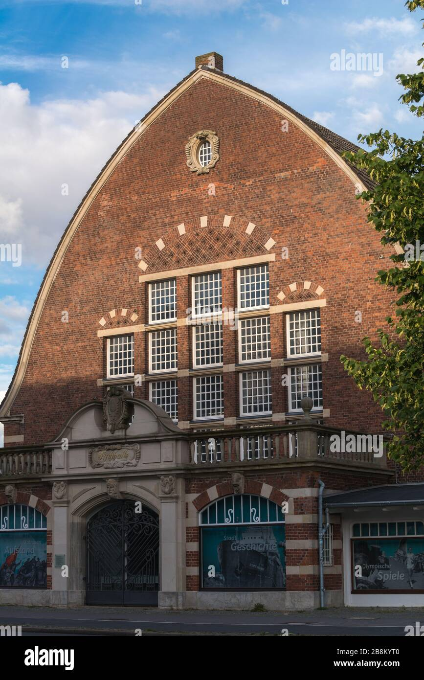 Fischauktionshalle or former fish market, today Schiffahrtsmuseum or Museum for Shipping Kiel, Schleswig-Holstein, North Germany, Central Europe Stock Photo