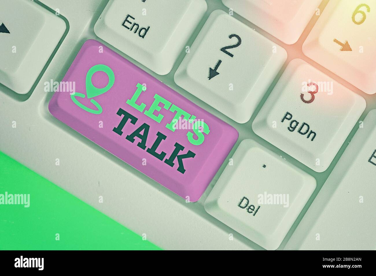 Word writing text Lets Is Talk. Business photo showcasing ...