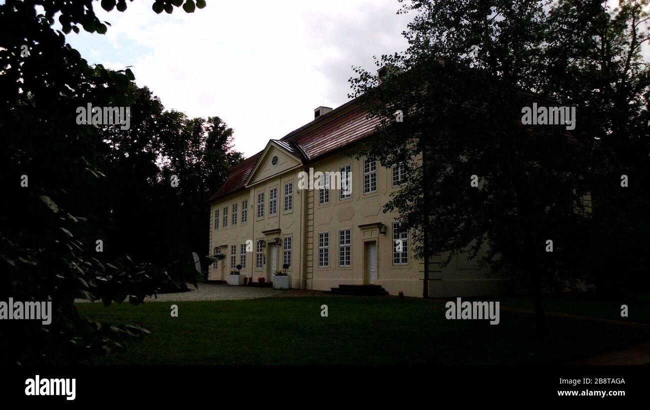 """""""Deutsch: Kavaliershaus des herzoglichen Schlosses Mirow (Schlossinsel Mirow).; Taken in31 August 20119 September 2011 (original upload date); Own work; Botaurus; """" Stock Photo"""