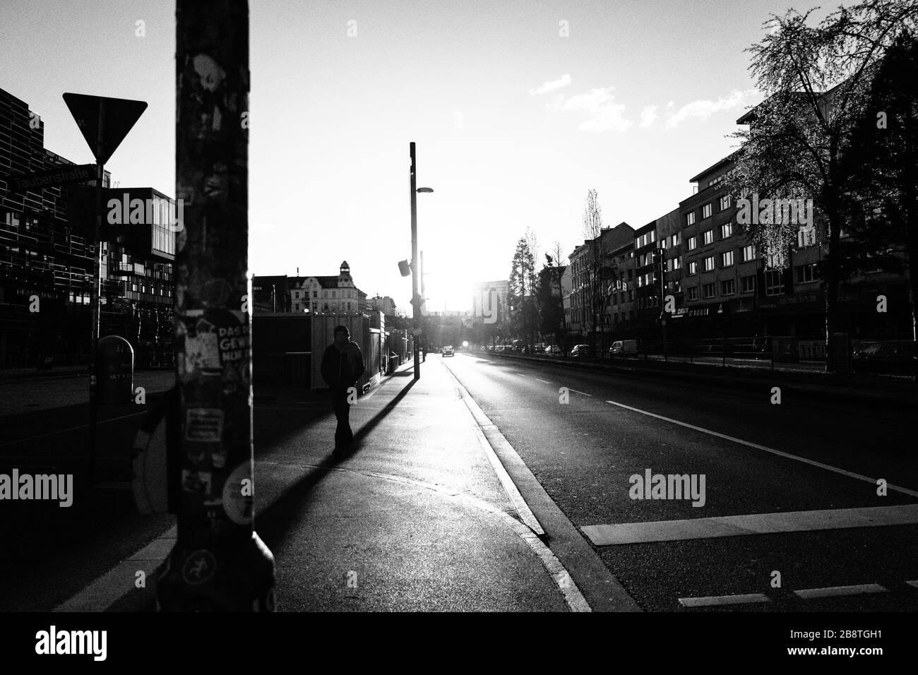 Hamburg ohne Menschen / Covid 19 Stock Photo
