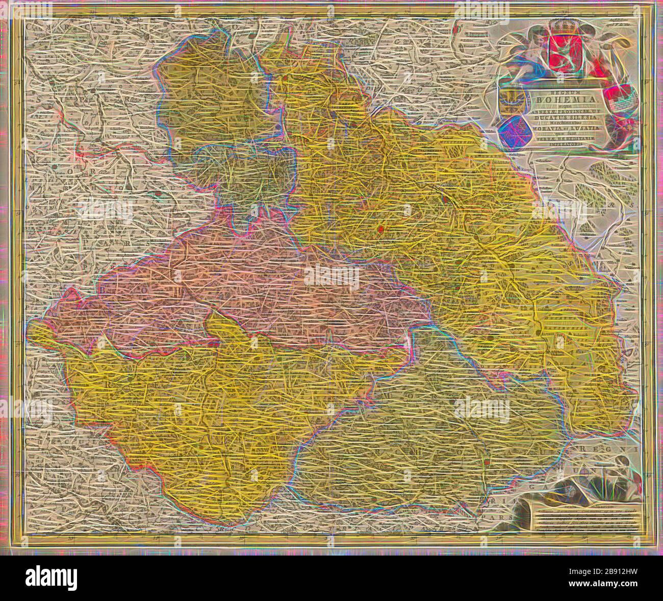 /'Silesie et Maravie/' Silesia Moravia MALLET 1683 map POLAND//CZECH Schlesien