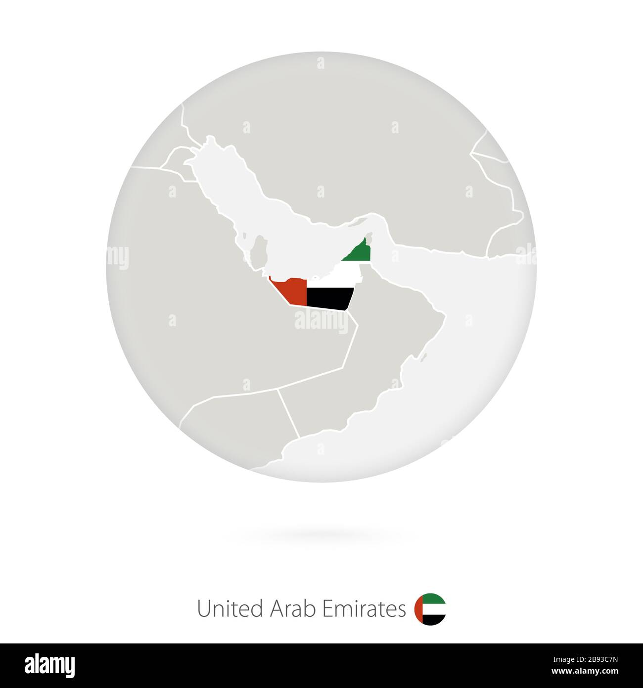 Uae Map High Resolution Stock Photography And Images Alamy