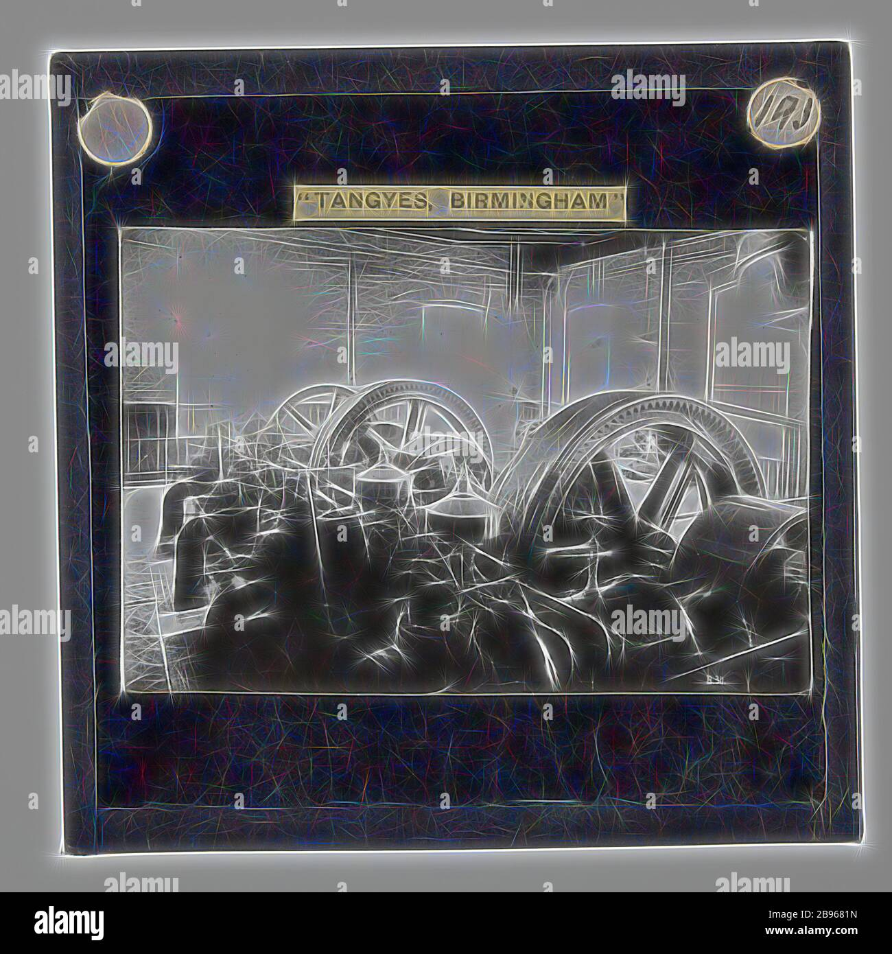 Lantern Slide Tangyes Ltd Powerhouse Gas Engines Circa 1910 One Of 239 Glass Lantern Slides Depicting