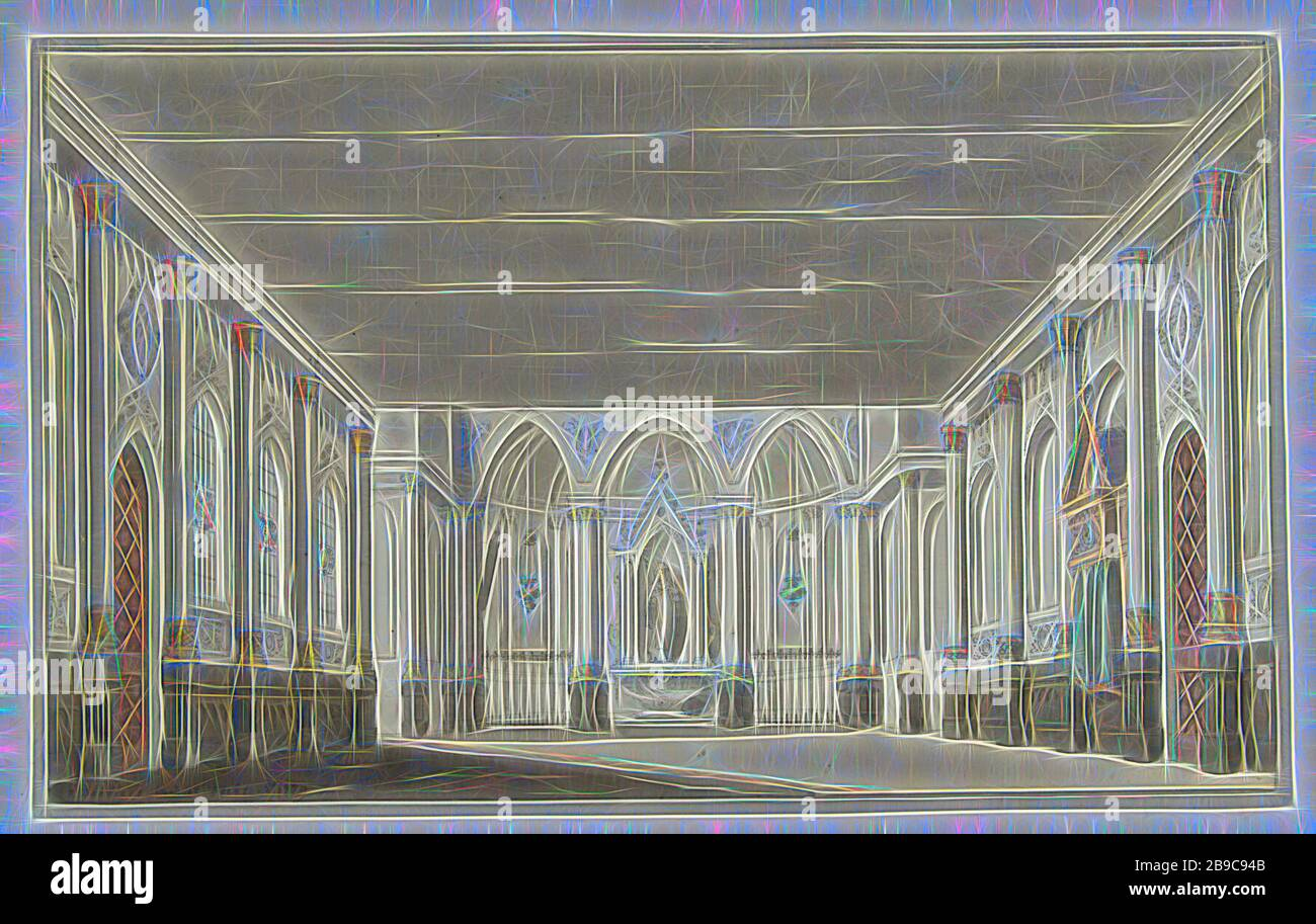 Design For A Stage Decor Of A Church Interior Stage Design Interior Of Church Pieter Barbiers I 1779 Paper Watercolor Paint Ink Graphite Mineral Brush H 172 Mm W 279 Mm