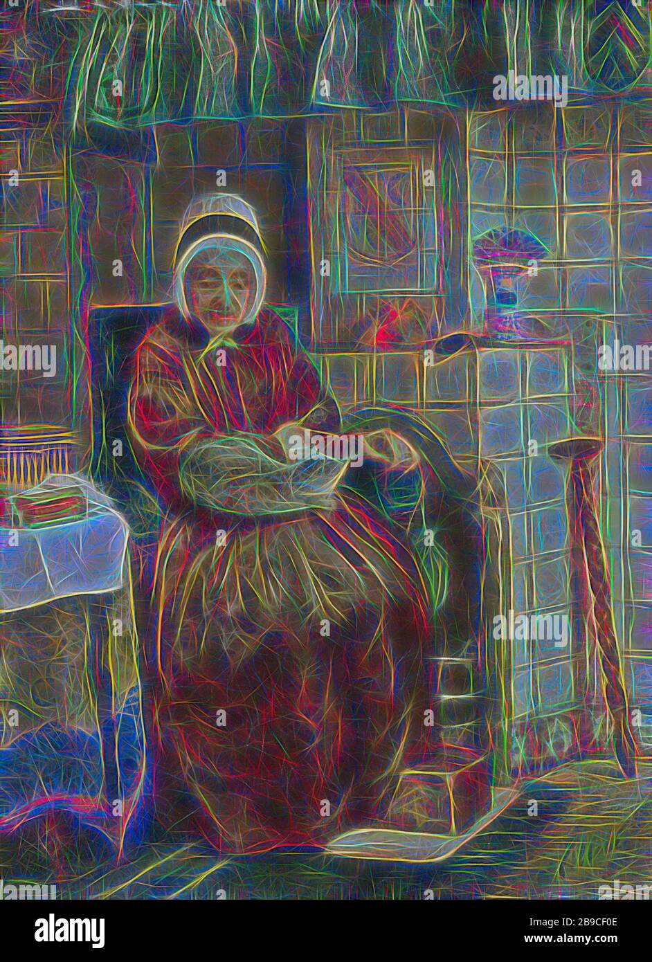 Old Woman By The Fireplace Old Woman Sitting By The Fireplace With A Cat On Her Lap And Feet On A Stove Kitchen Old Woman Warming Oneself At A Fire Or Hearth