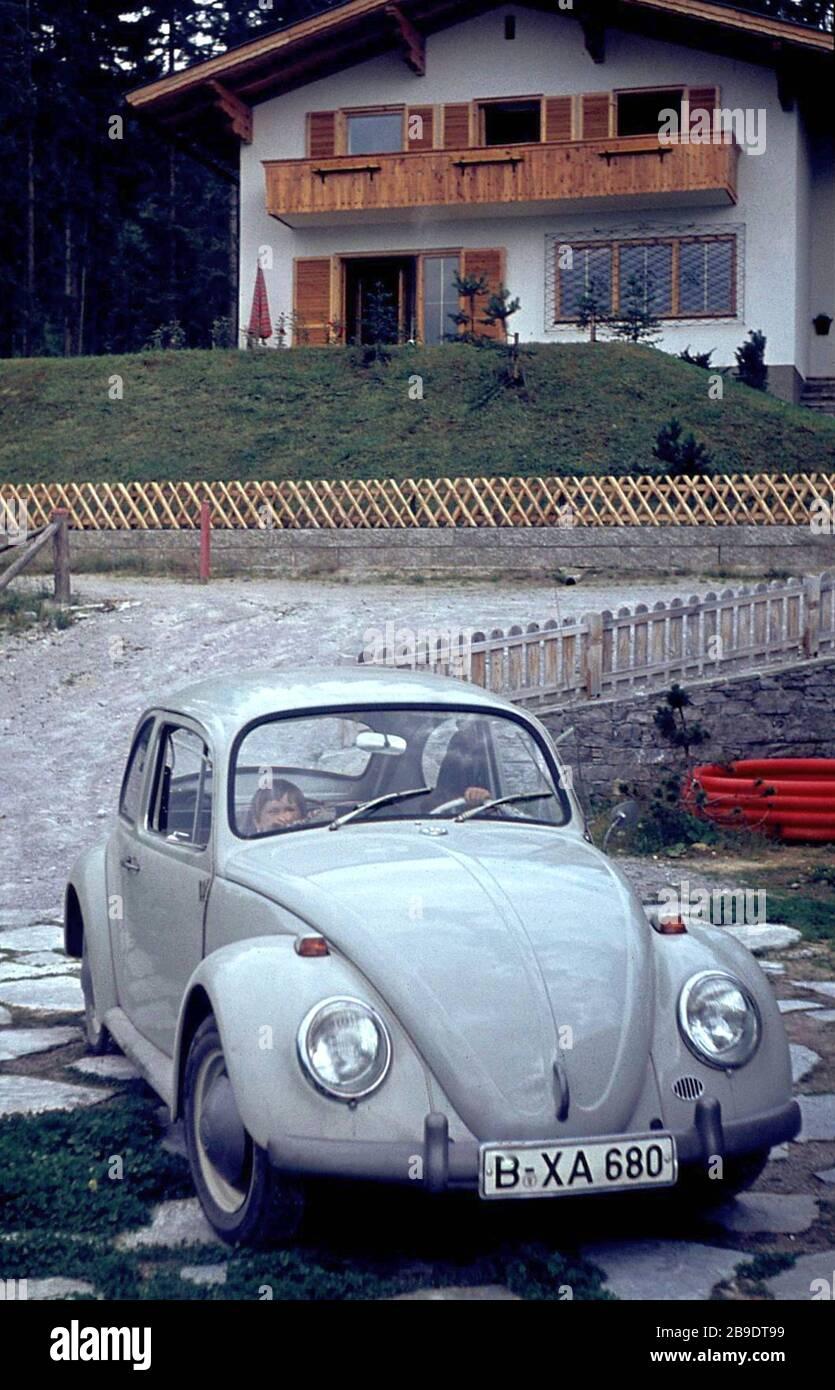 VW Volkswagen Beetle 1300 Cool 1966 Vintage Poster