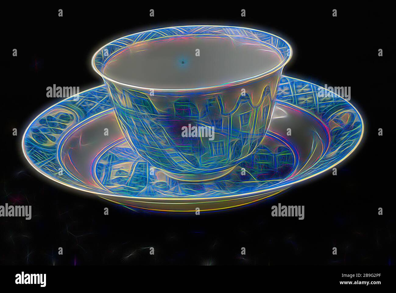 Cup And Saucer Costerman Uproar Blue Chinese Porcelain Cup Saucer Drinking Utensils Tableware Holder Ceramic Porcelain Cup H 4 0 Hand Turned Painted Painted Cup And Saucer Of Thin Walled Porcelain Depicted Is The Costerman Riots Can
