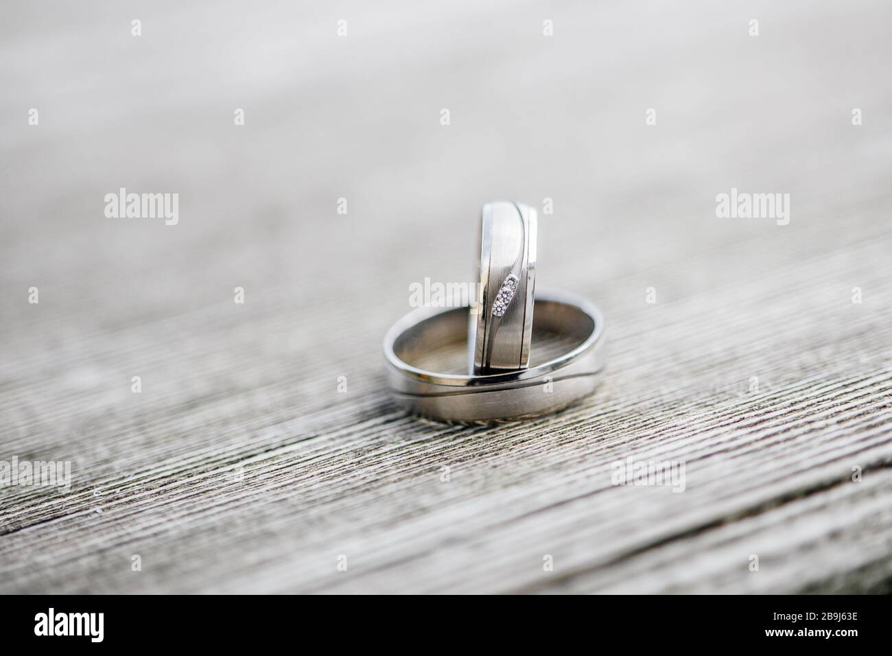 Wedding Ring symbol of love and human relationships commitment Stock Photo