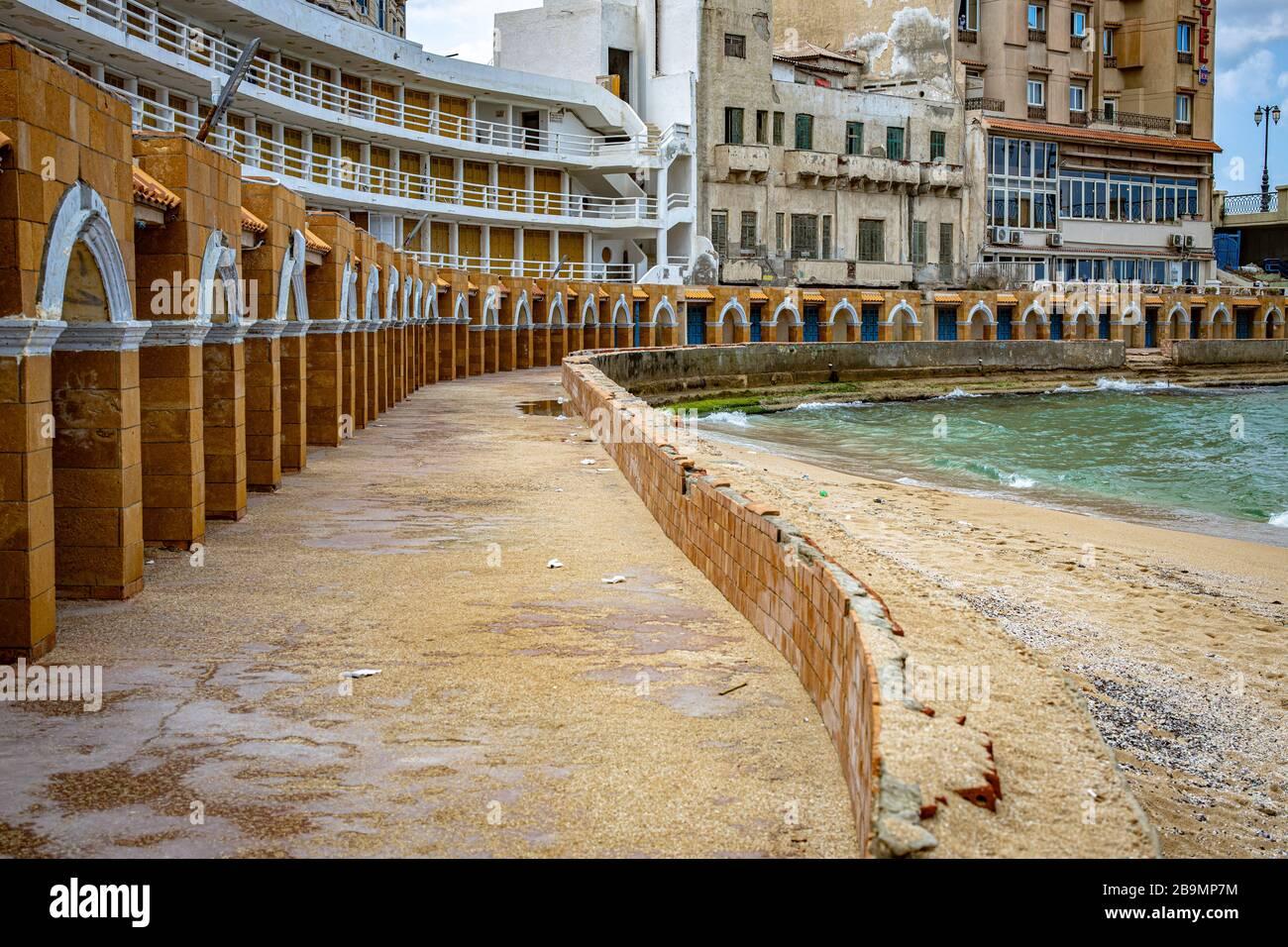 Stanley Bay Beach Alexandria Egypt Stock Photo Alamy