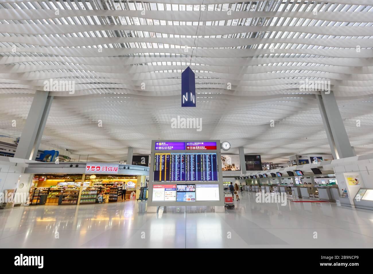 Hong Kong, China – September 20, 2019: Terminal 2 of Hong Kong airport (HKG) in China. Stock Photo