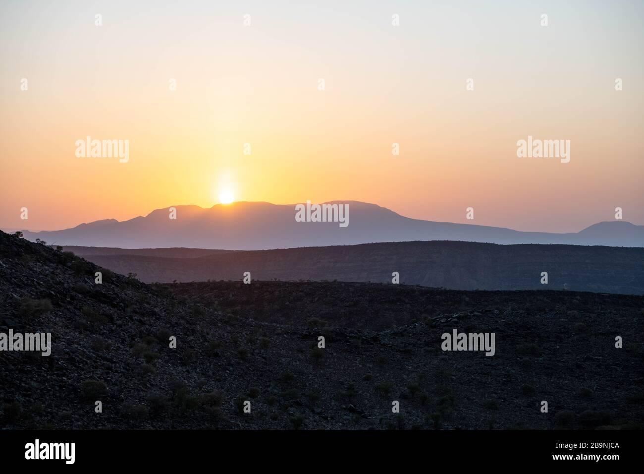Africa, Djibouti, Abourma. Aburma's desert at sunset Stock Photo
