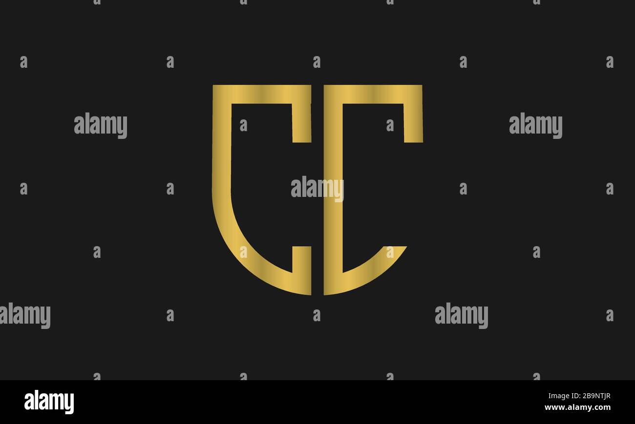 Letter Cc Monogram And Shield Sign Combination Line Art Logo Design Symbolizes Reliability Safety Power Security Stock Vector Image Art Alamy