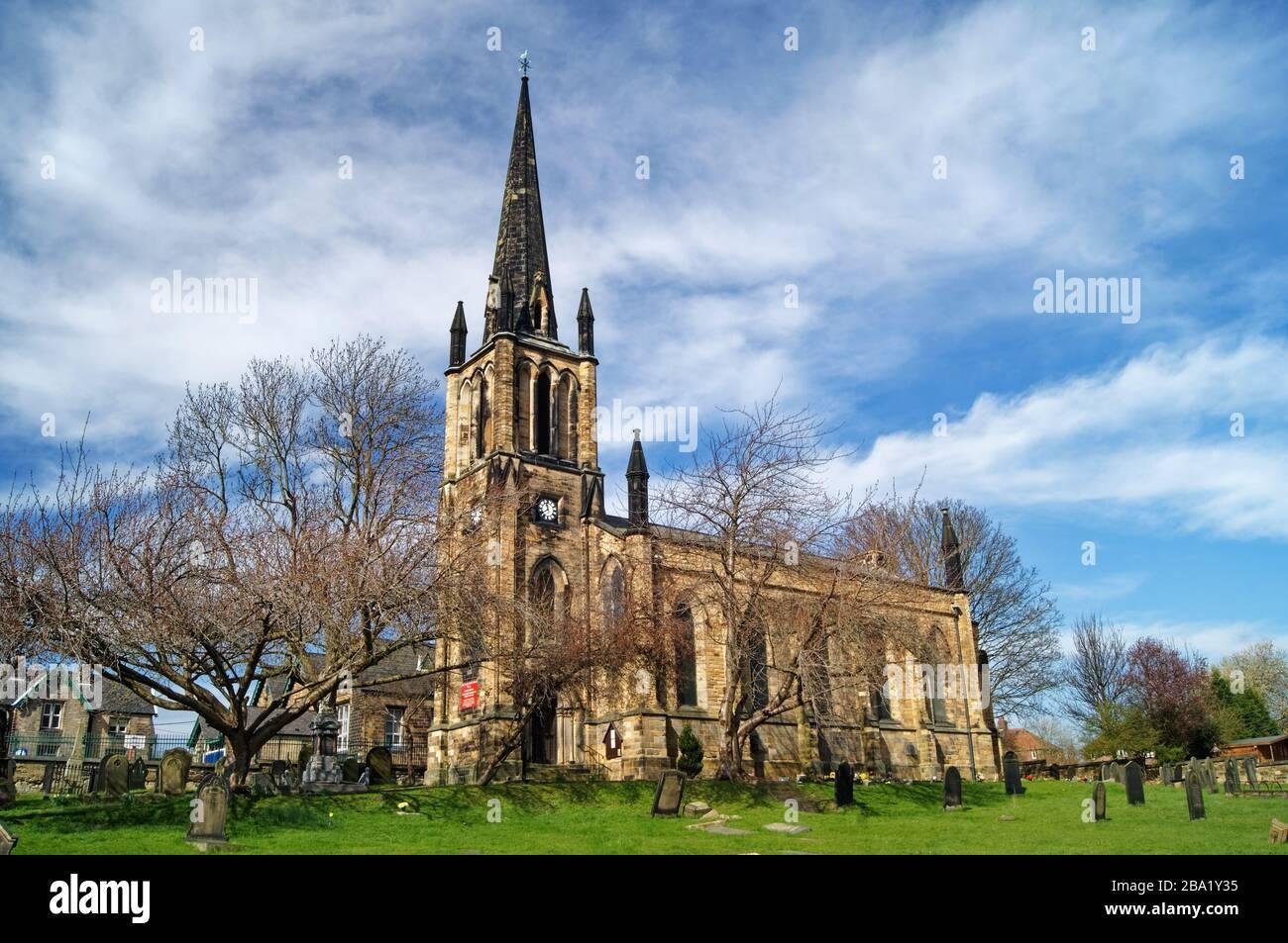 UK,South Yorkshire,Elsecar,Holy Trinity Parish Church Stock Photo