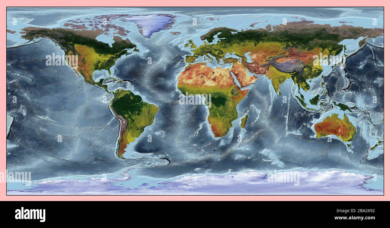 Image of: Map Continents Oceans High Resolution Stock Photography And Images Alamy