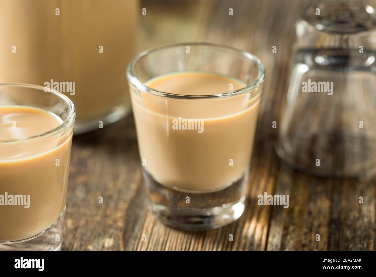 Homemade Sweet Irish Cream Liquor in a Glass Stock Photo