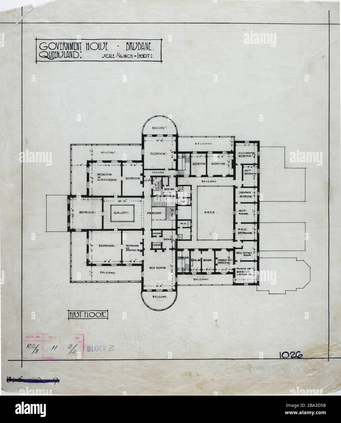 English First Floor Plan Of Government House Brisbane C 1940 15 April 2012 00 55 02 First Floor Plan Of Government House Brisbane C 1940 Published By Queensland State Archives Unknown Author Stock Photo Alamy