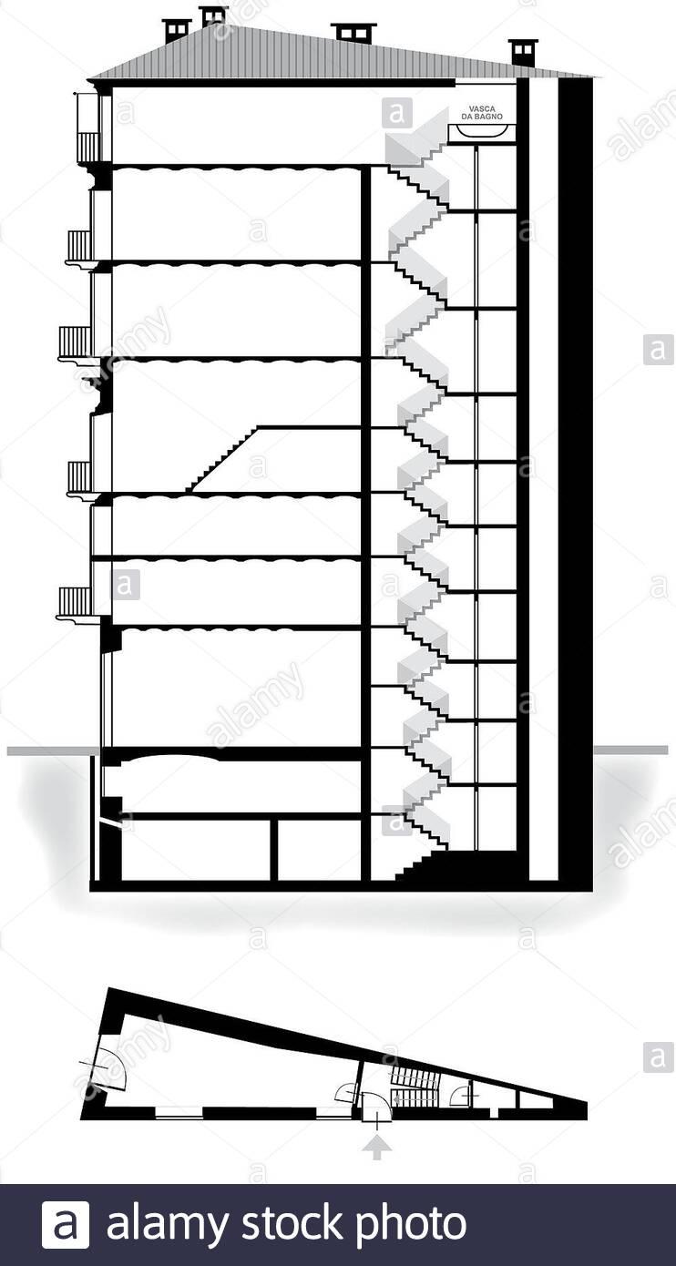 Planimetria Casa Con Misure spaccato della stock photos & spaccato della stock images