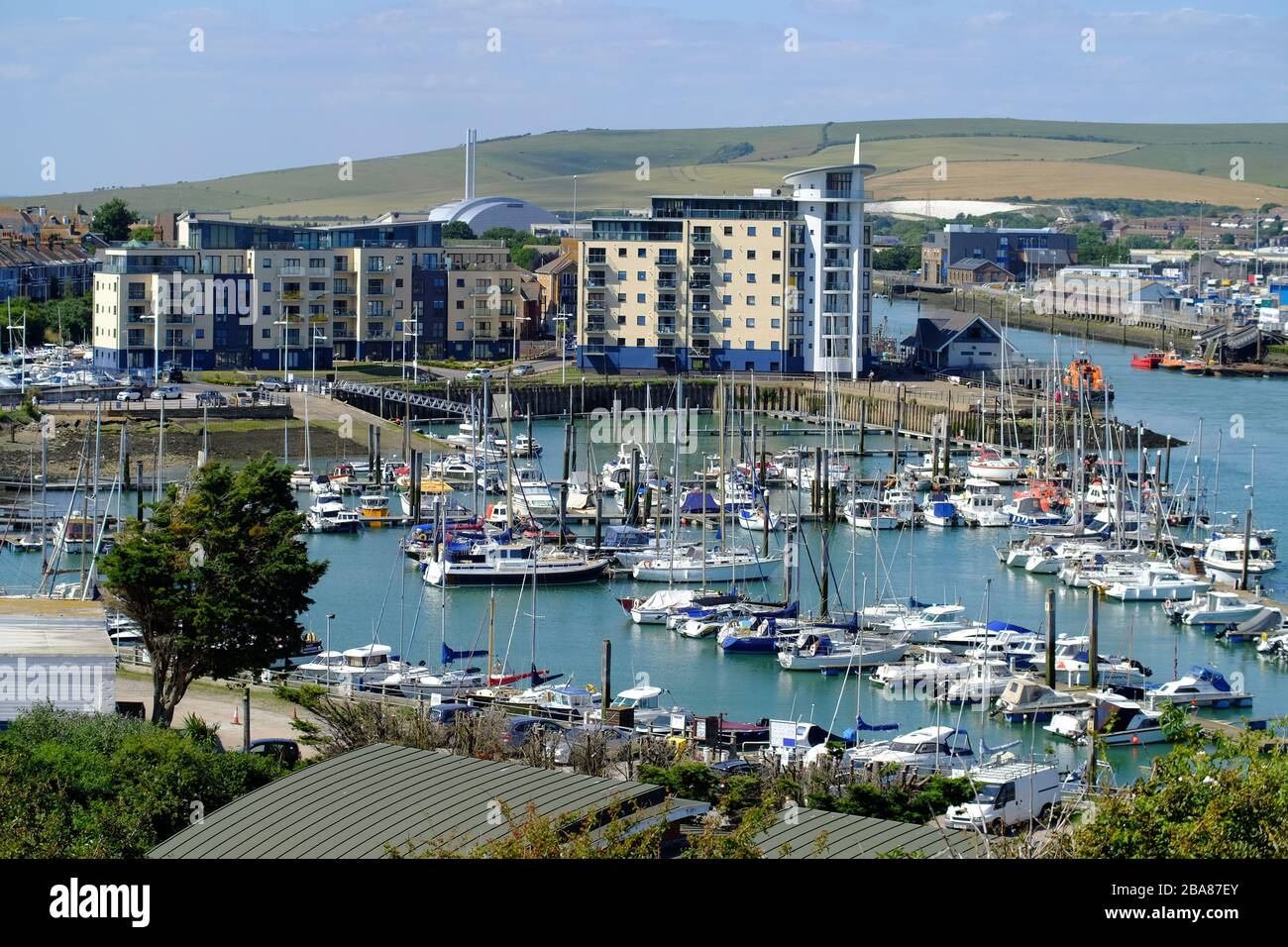 Newhaven Marina, East Sussex, Uk Stock Photo